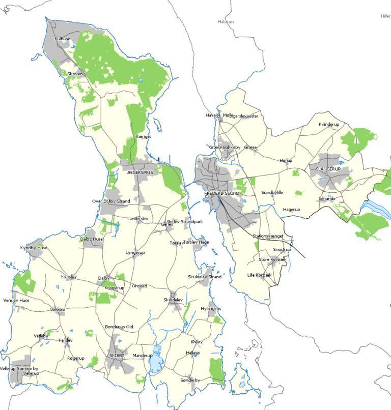 Kort Frederikssund Kommune